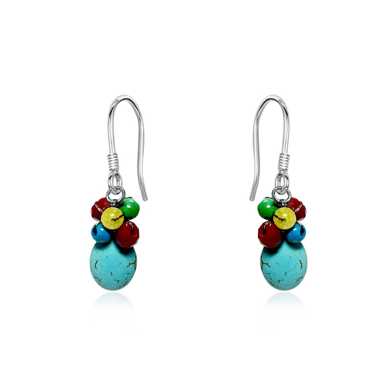 Areeya Turquoise & Cinnamon Earrings