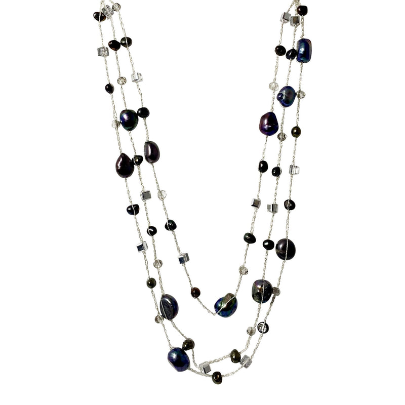 Areeya Black Pearl Long Necklace