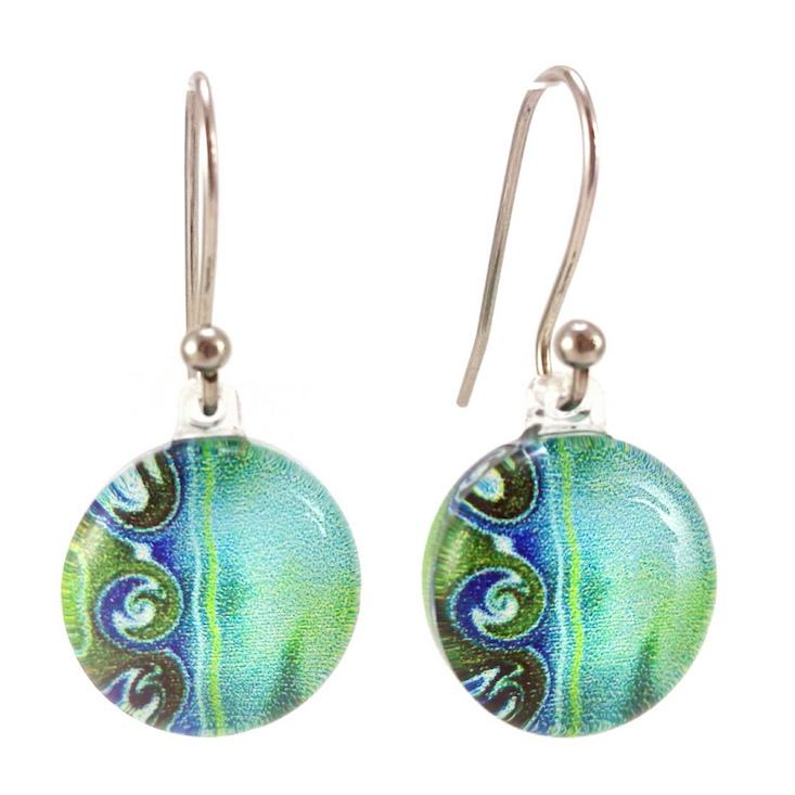 Turquoise 3 Waves Earrings