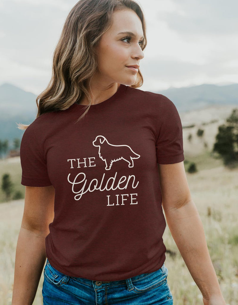 The Golden Life - Dog Lover Unisex Fit T-Shirt