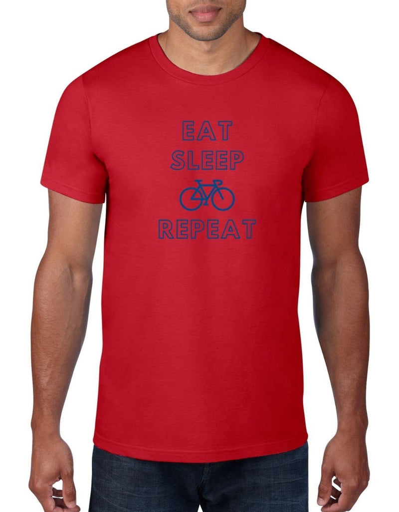 Eat Sleep Cycle Repeat - Cycling Bike T-Shirt For Men