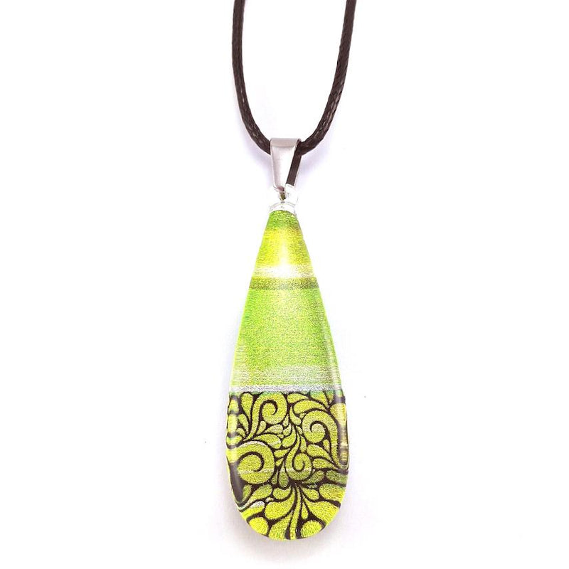 Green Lace Pendant