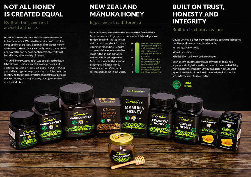Onuku Certified Manuka Honey Snappaks UMF10+ 90g