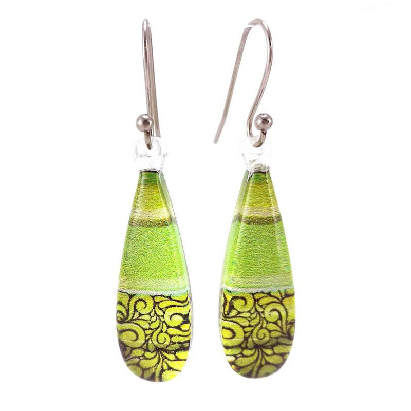 Green Lace Earrings