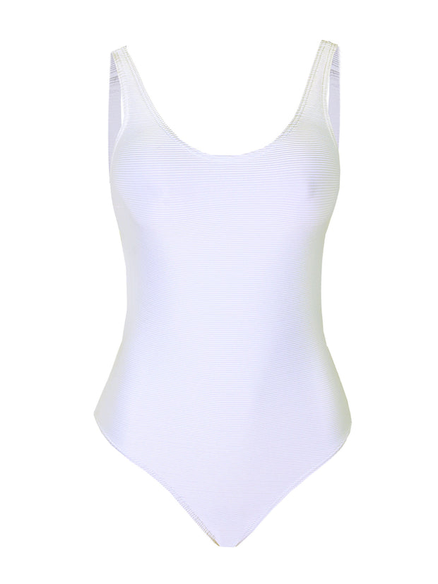 Rhossi One Piece – White Rib
