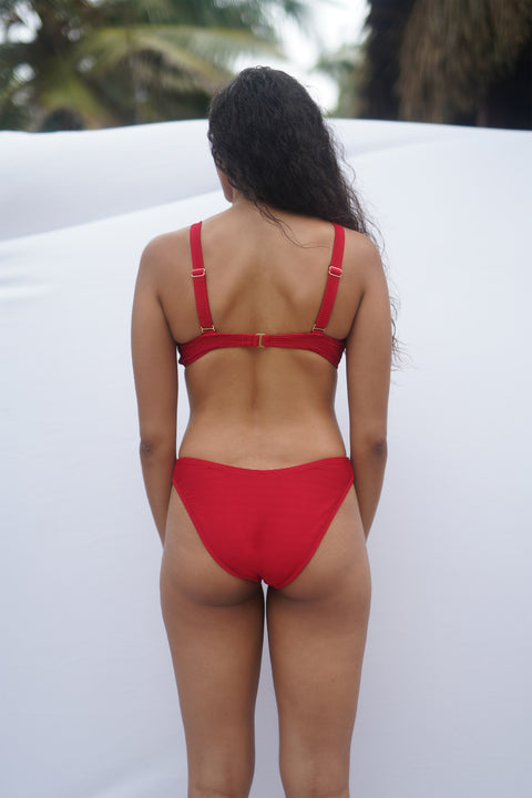 Victoria Bottom - Red Rib