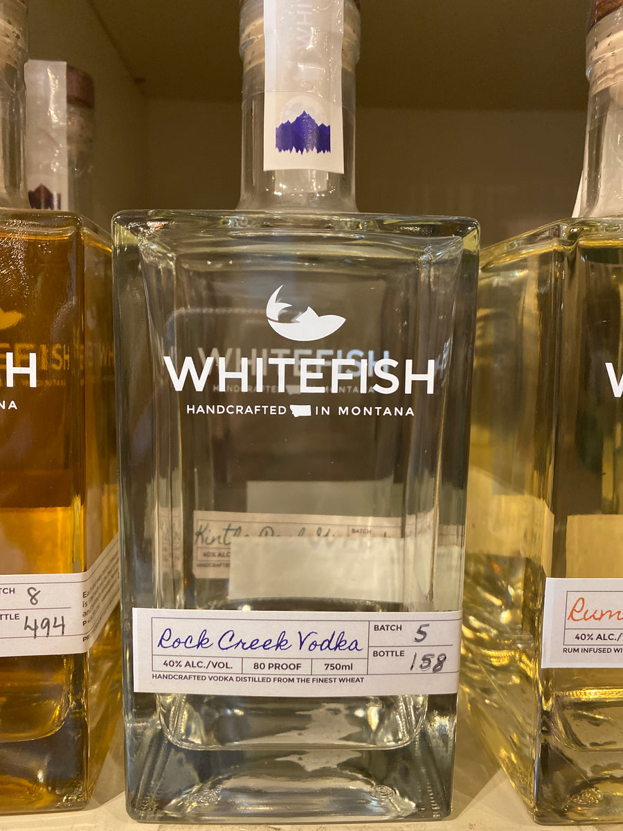 Whitefish Rock Creek Vodka, 750 ml