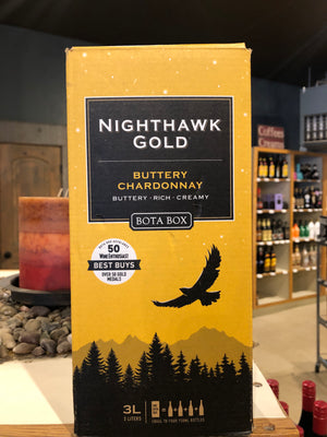 Bota Box, Nighthawk Gold Buttery Chardonnay, California, 3 liter box