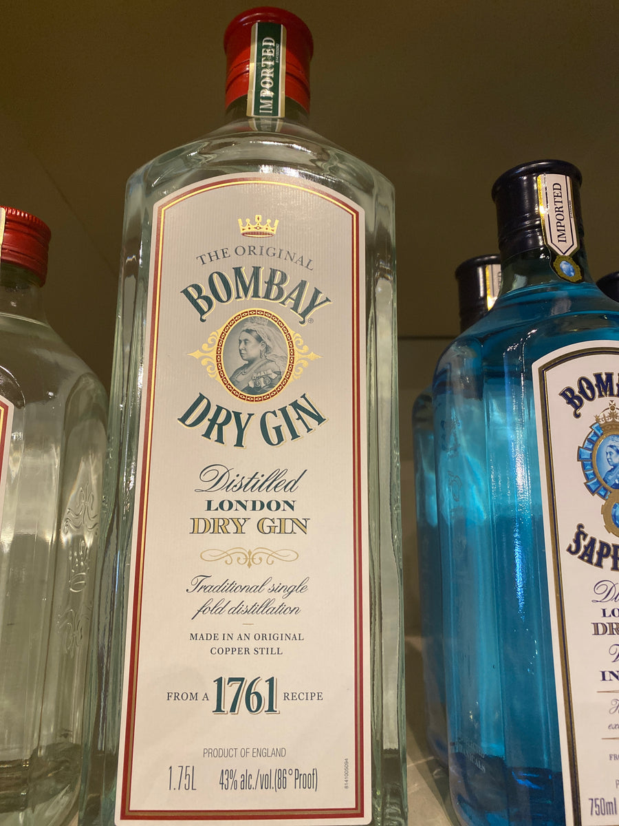 Bombay English Dry Gin, 1.75 L