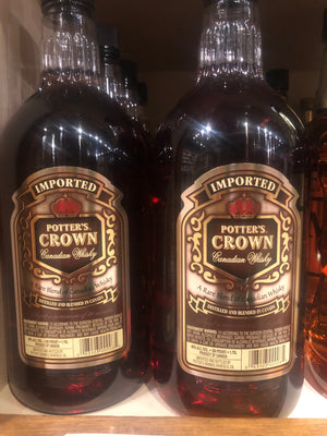 Potters Crown, Canadian Whisky, 1.75 L