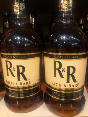 R & R, Canadian Whisky, 1.75 L