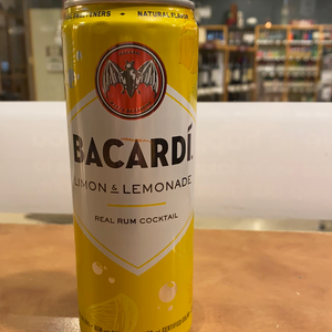Bacardi, RTD, Limon and Lemonade, 12oz can