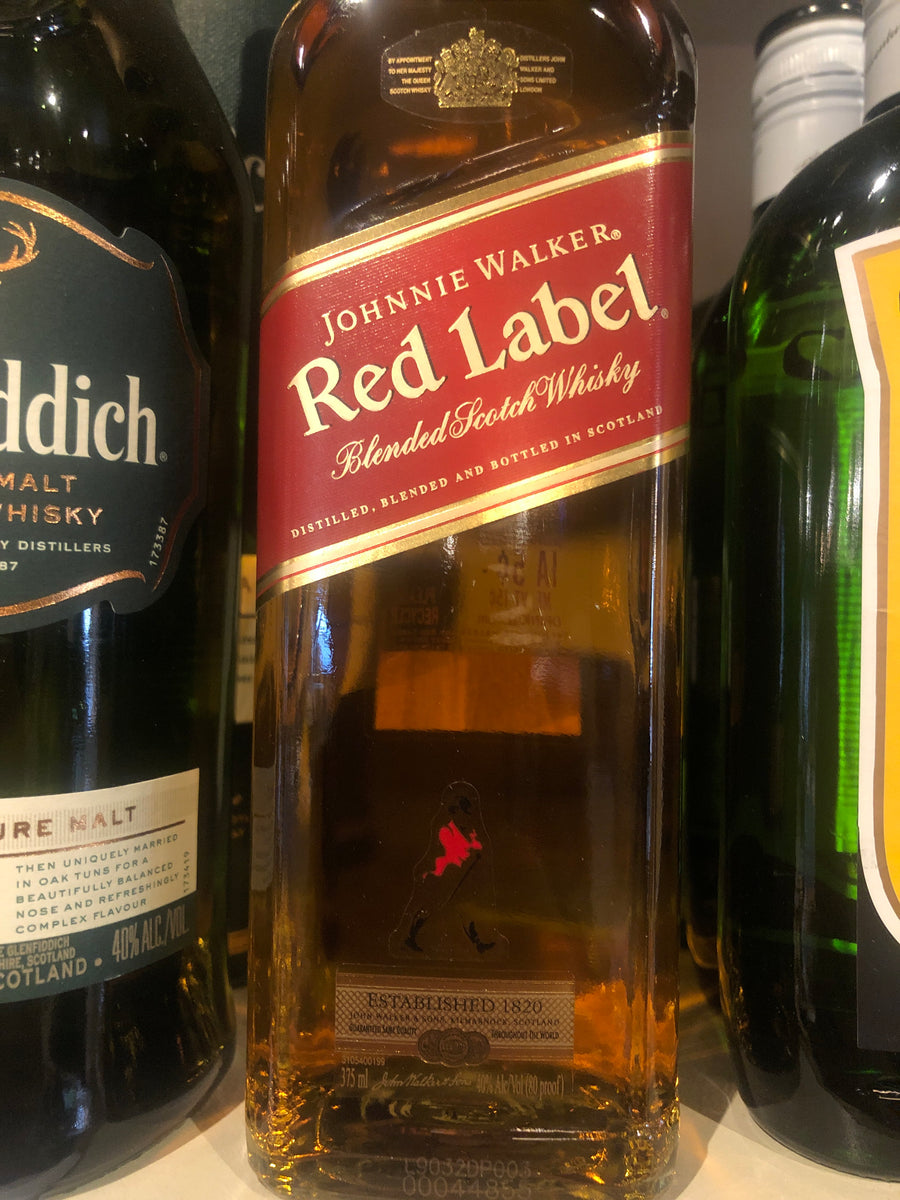 Johnnie Walker Red Label Scotch, 375 ml