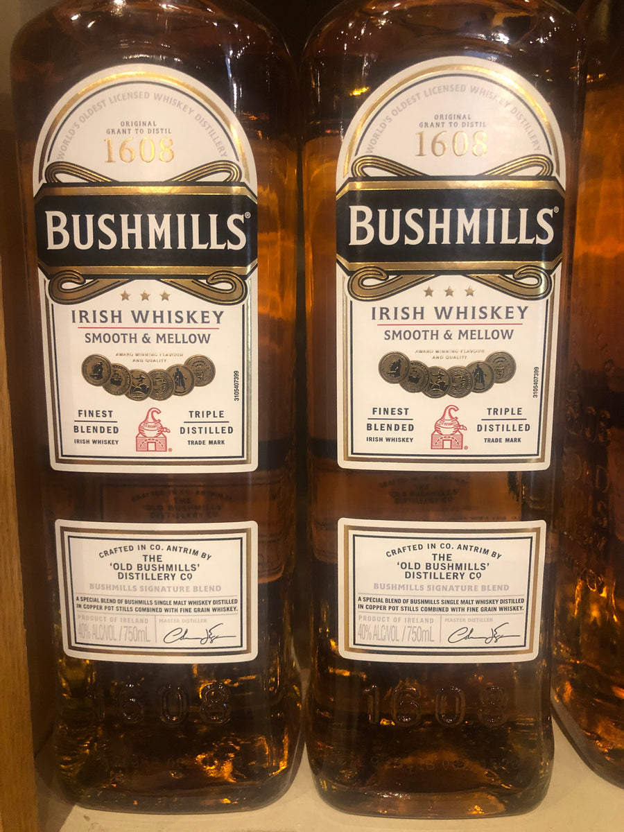 Bushmills Irish Whiskey, 750 ml