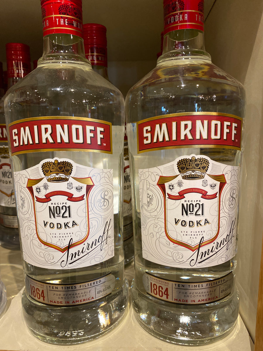 Smirnoff Vodka, 1.75 L glass