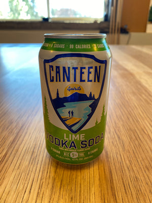 Canteen, Vodka Soda, Lime, RTD, 12oz can