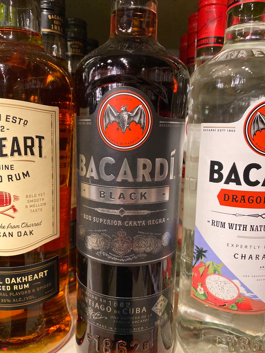 Bacardi Black Rum, 750 ml
