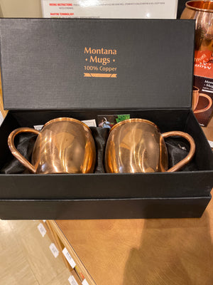 Montana Mugs, Copper Mug Set of 2, 16oz