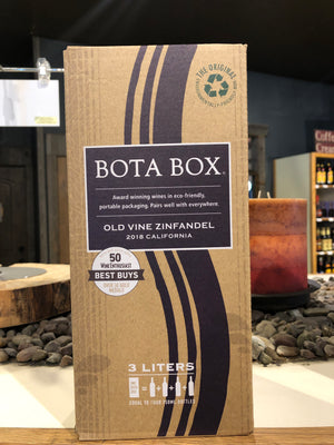 Bota Box, Old Vine Zinfandel, California, 3 liter box