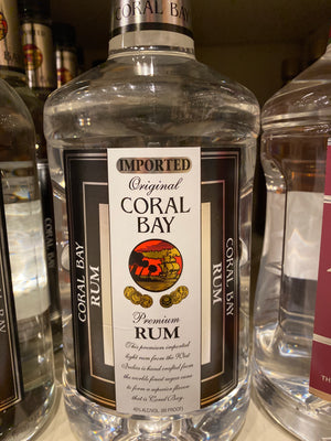 Coral Bay Light Rum, 1.75 L
