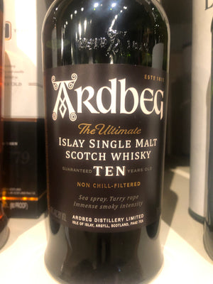 Ardbeg, 10 yr Scotch, 750 ml