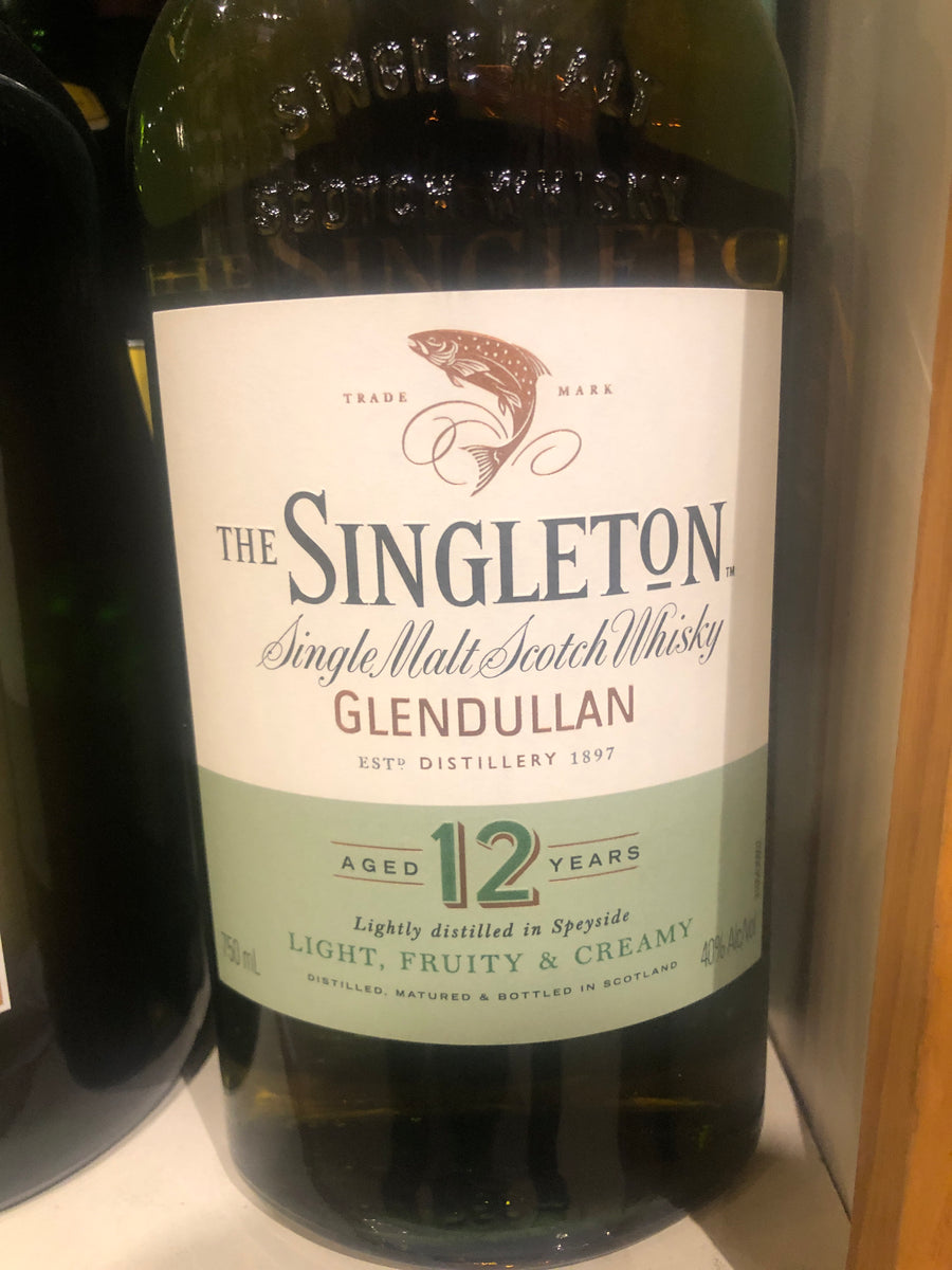 Singleton Glendullan 12 yr Scotch, 750 ml