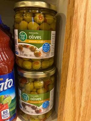 Food Club, Manzanilla Olives, 10oz