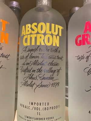 Absolut Citron Vodka, 1.75 L
