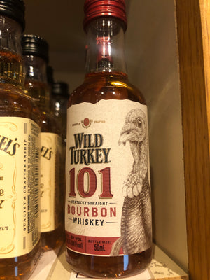 Wild Turkey 101pf Bourbon, 50 ml