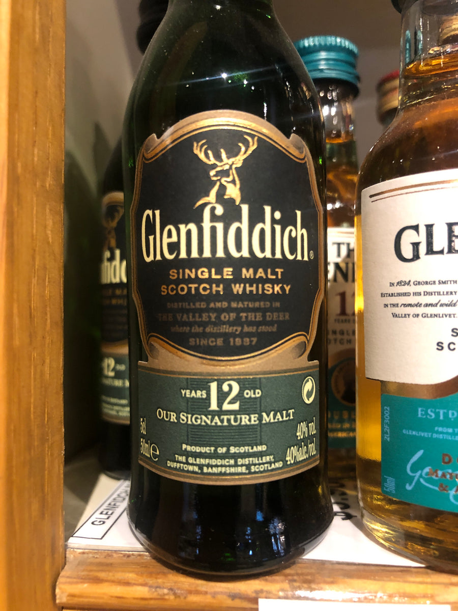 Glenfiddich 12 yr Scotch, 50 ml