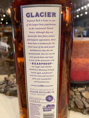 Glacier Distilling, Bearproof, Huckleberry Flavored, Whiskey, 750mL