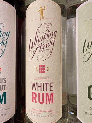 Whistling Andy, White Rum, 750 ml