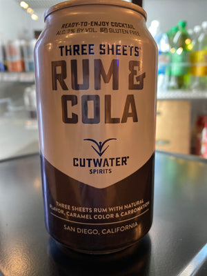 Cutwater, Rum And Cola, RTD, 12 oz can