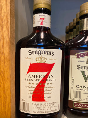 Seagram's 7 American Blended Whiskey, 375 ml
