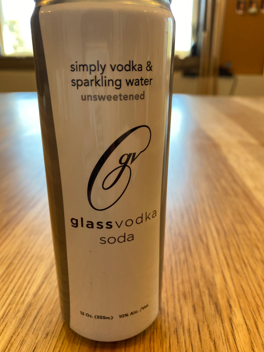Glass, Vodka Soda, Unsweetened, RTD, 12oz can