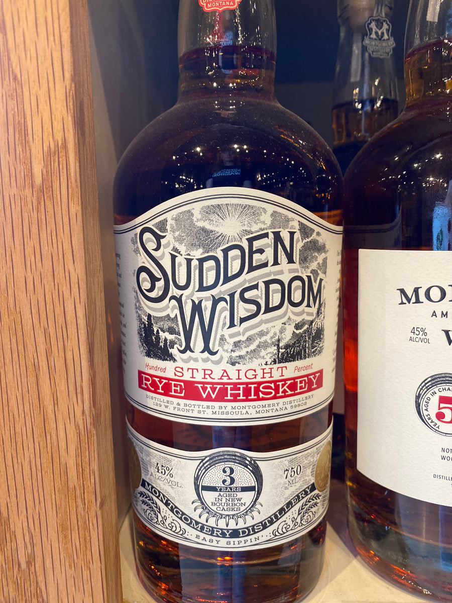 Sudden Wisdom Rye Whiskey, 750 ml