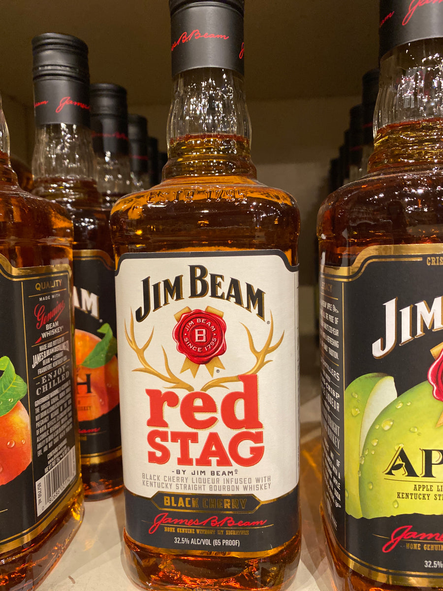 Jim Beam Red Stag Cherry Bourbon, 750 ml