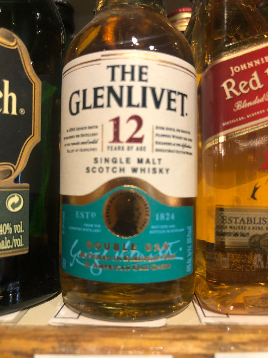 Glenlivet 12yr Scotch, 50 ml