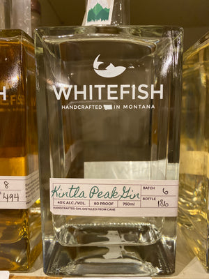 Whitefish Kintla Peak Gin, 750 ml