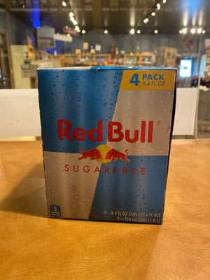 Red Bull, Sugar-Free, 4-pack, 8.4oz cans