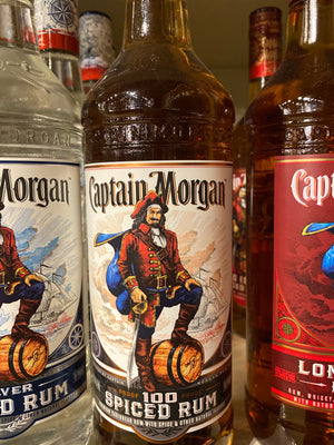 Captain Morgan 100 proof Spiced Rum, 750 ml