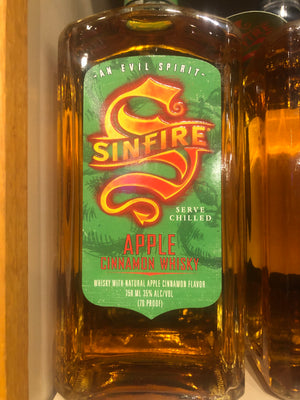 Sinfire Apple Cinnamon Whiskey, 750 ml