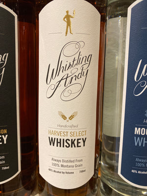 Whistling Andy, Harvest Select Whiskey, 750 ml
