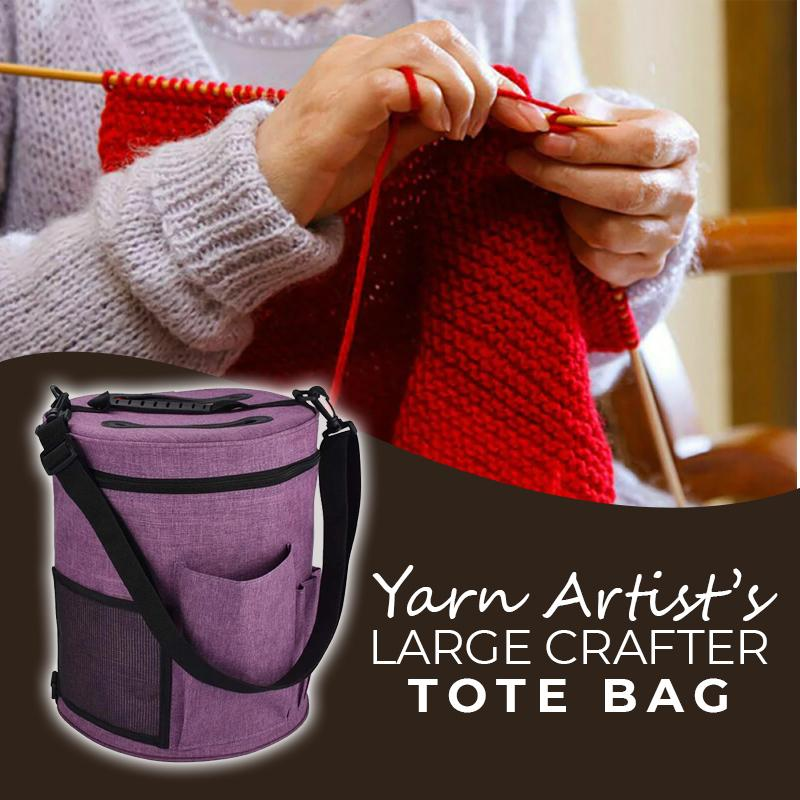 Yarn Artist's Large Crafter Tote Bag