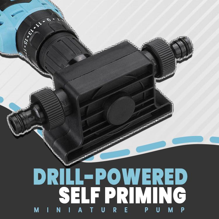 Drill-Powered Self Priming Miniature Pump