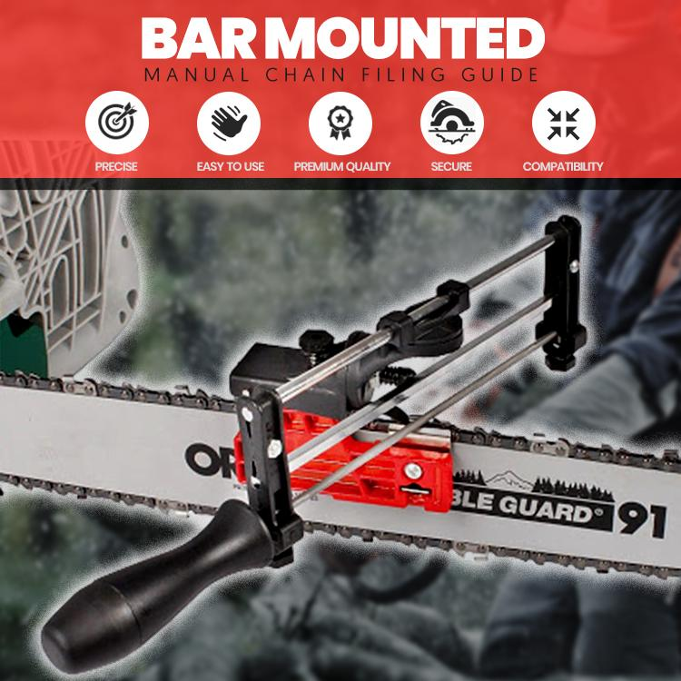 Bar Mounted Manual Chain Filing Guide