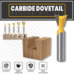Carbide Dovetail Router Bit Set (5pcs/set)