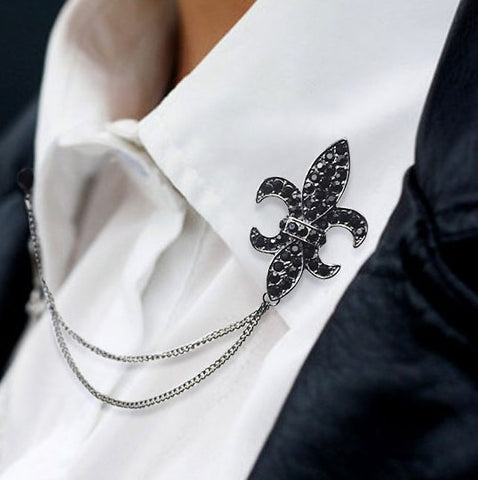 Lapel Pin Neck Collar Brooches Shirt Mens Accessories
