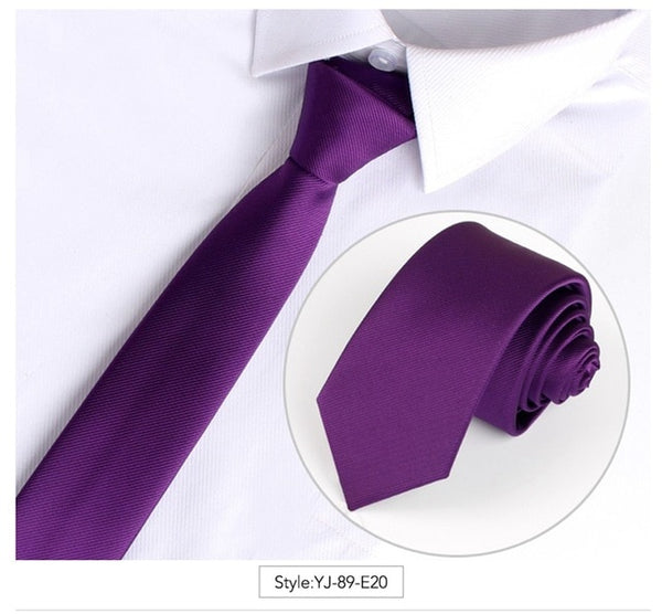 Men Tie Solid Color Classic Ties Fashion Necktie Casual