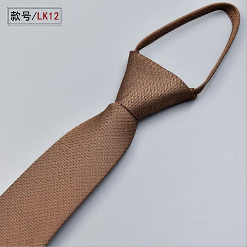 Jacquard Slim Tie Business Tie For lazy Men